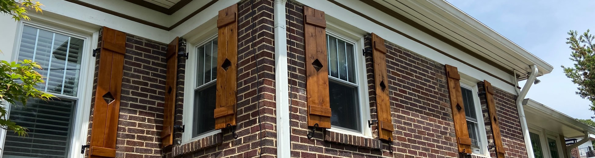 Classic Cedar Stained Shutters Design