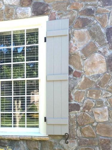 Board-n-batten Miratec smooth finish shutters