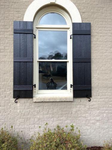 Board-n-batten textured finish shutters