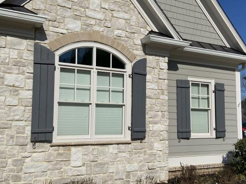 Board-n-batten Shutters with Curved Tops